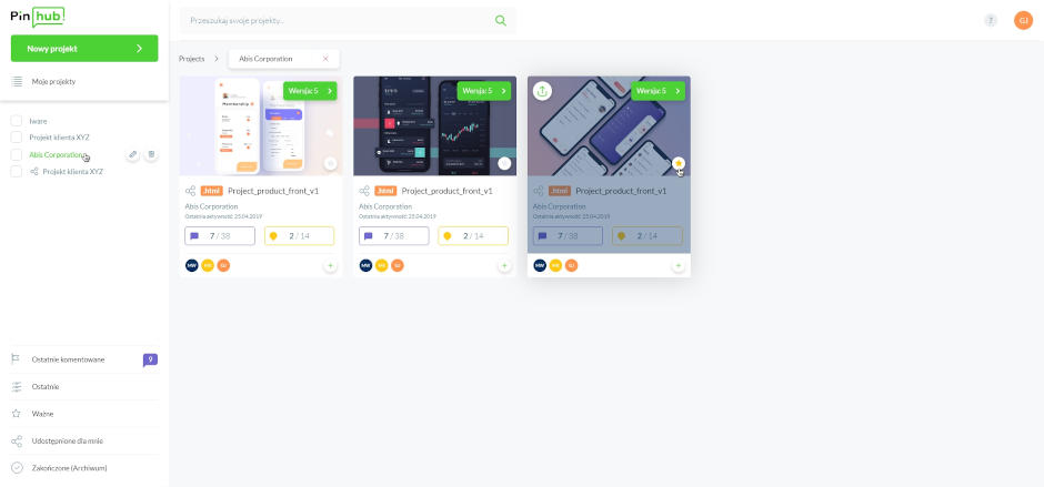 Pinhub dashboard
